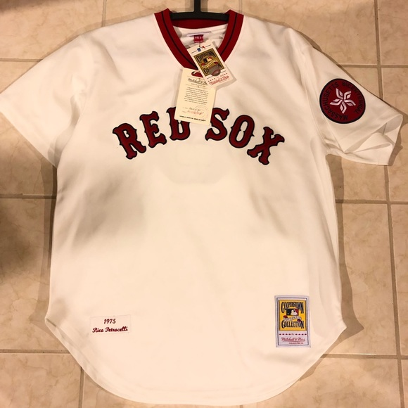 wholesale dealer 7a9ec d04d9 Mitchell & Ness Boston Red Sox 1975 Throwback NWT